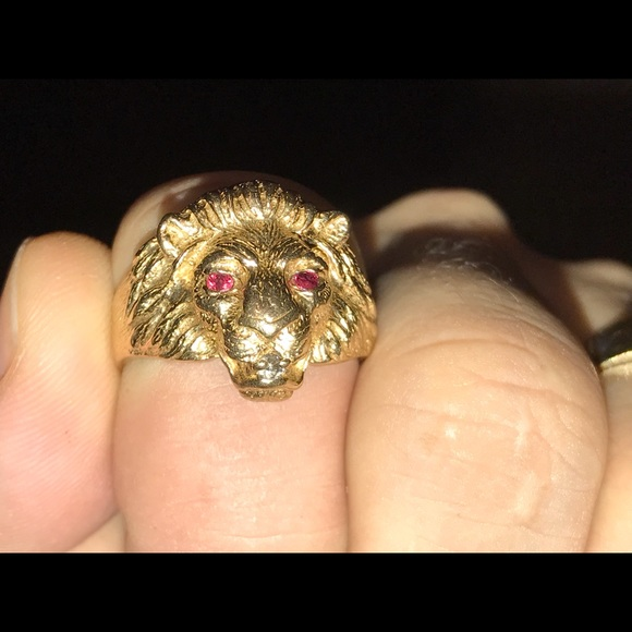 Accessories 10ktyg Mens Lion Ring Poshmark